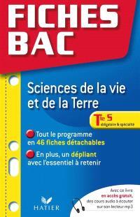 Sciences de la vie et de la Terre, Tle S, obligatoire et spécialité