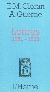 Lettres, 1961-1978