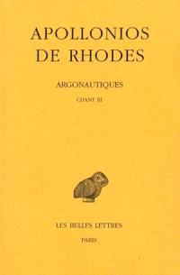 Argonautiques. Volume 2, Chant III