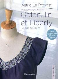 Coton, lin et liberty : modèles du 34 au 44