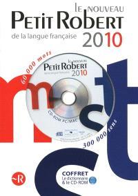 Coffret Le Nouveau Petit Robert de la langue française 2010 : version papier et sur CD-ROM