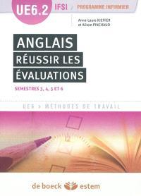 Anglais : réussir les évaluations : UE6.2 IFSI, programme infirmier, semestres 3, 4, 5 et 6