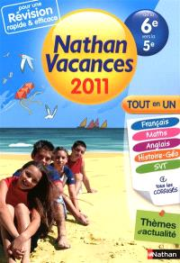 Nathan vacances 2011, de la 6e vers la 5e : tout en un
