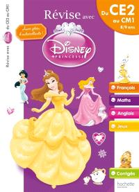 Révise avec Disney Princesse : du CE2 au CM1, 8-9 ans : français, maths, anglais, jeux, corrigés