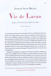 Vie de Lacan : écrite à l'intention de l'opinion éclairée