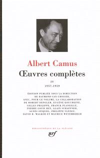 Oeuvres complètes. Volume 4, 1957-1959