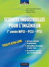 Sciences industrielles pour l'ingénieur, 1re année MPSI-PCSI-PTSI