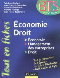 Economie-droit en fiches : BTS 1re et 2e années