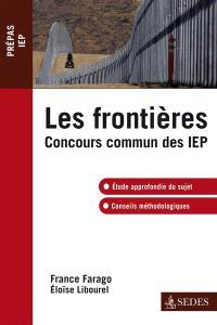 Les frontières : concours communs des IEP