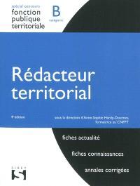 Rédacteur territorial, catégorie B