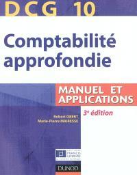 DCG 10, comptabilité approfondie : manuel et applications