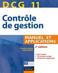 DCG 11, contrôle de gestion : manuel et applications