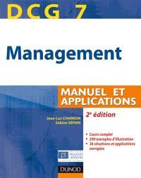 DCG 7, management : manuel et applications, corrigés inclus