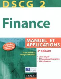 Finance : DSCG 2 : manuels et applications