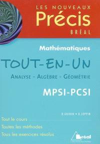 Mathématiques tout-en-un, MPSI-PCSI : analyse, algèbre, géométrie