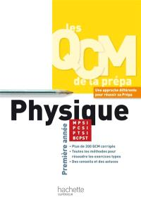 QCM physique, MPSI-PCSI-PTSI-BCPST : première année