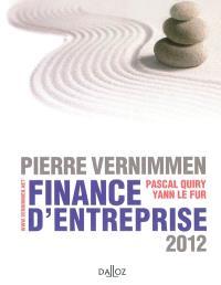 Finance d'entreprise : 2012