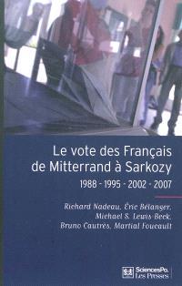 Le vote des Français de Mitterrand à Sarkozy : 1988, 1995, 2002, 2007