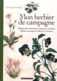 Mon herbier de campagne : 100 planches botaniques anciennes revisitées, plantes sauvages et cultivées en France