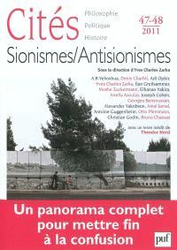 Cités. n° 47-48, Sionismes, antisionismes : un panorama complet pour mettre fin à la confusion
