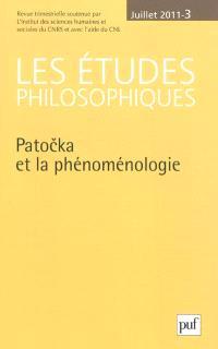 Etudes philosophiques (Les). n° 3 (2011), Patocka et la phénoménologie