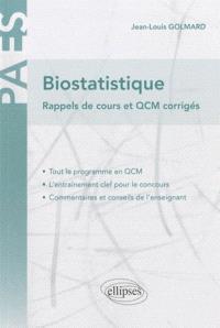 Biostatistiques : rappels de cours et QCM corrigés