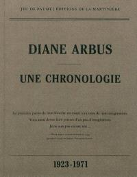 Diane Arbus : une chronologie, 1923-1971