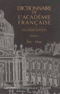 Dictionnaire de l'Académie française. Volume 2, Eoc-Map