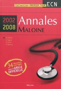 Annales Maloine internat-ECN 2002-2008