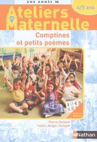 Comptines et petits poèmes : avec les 4-5 ans