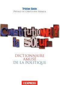 Constitutionnel ? ta soeur... : dictionnaire amusé de la politique