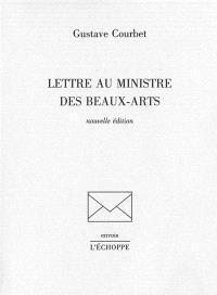 Lettre au ministre des Beaux-Arts