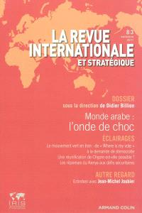 Revue internationale et stratégique. n° 83, Monde arabe : l'onde de choc