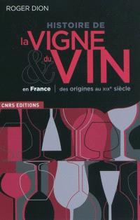 Histoire de la vigne et du vin en France : des origines au XIXe siècle