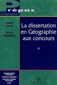 La dissertation de géographie aux concours