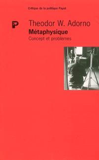 Métaphysique : concepts et problèmes