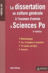 La dissertation de culture générale à Sciences Po