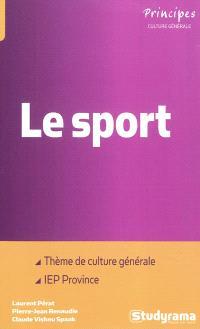 Le sport : thème de culture générale aux concours d'entrées des IEP de provinces