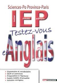 Testez-vous en anglais : Sciences-Po Province-Paris