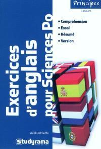 Exercices d'anglais pour Sciences-Po