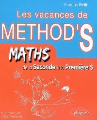 Les vacances de Method'S, Maths de la seconde à la première S