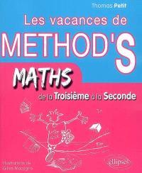 Les vacances de Method'S, Maths de la troisième à la seconde