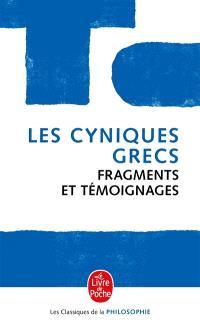 Les cyniques grecs : fragments et témoignages