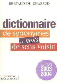 Dictionnaire des synonymes et mots de sens voisin