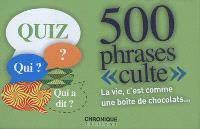 500 phrases culte