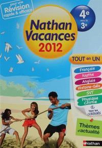 Nathan vacances 2012, de la 4e vers la 3e : tout en un