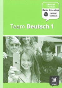 Team Deutsch 1, allemand 1re année, palier 1 : cahier d'exercices