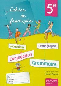 Cahier de français 5e
