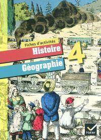 Histoire géographie 4e : fiches d'activités