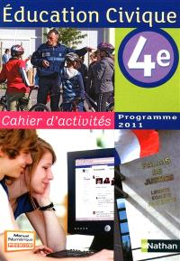 Education civique, 4e : cahier d'activités